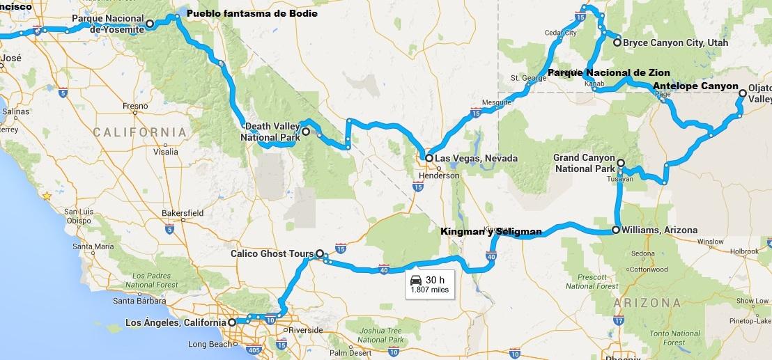 Road trip por la costa Oeste de EEUU y RivieraMaya